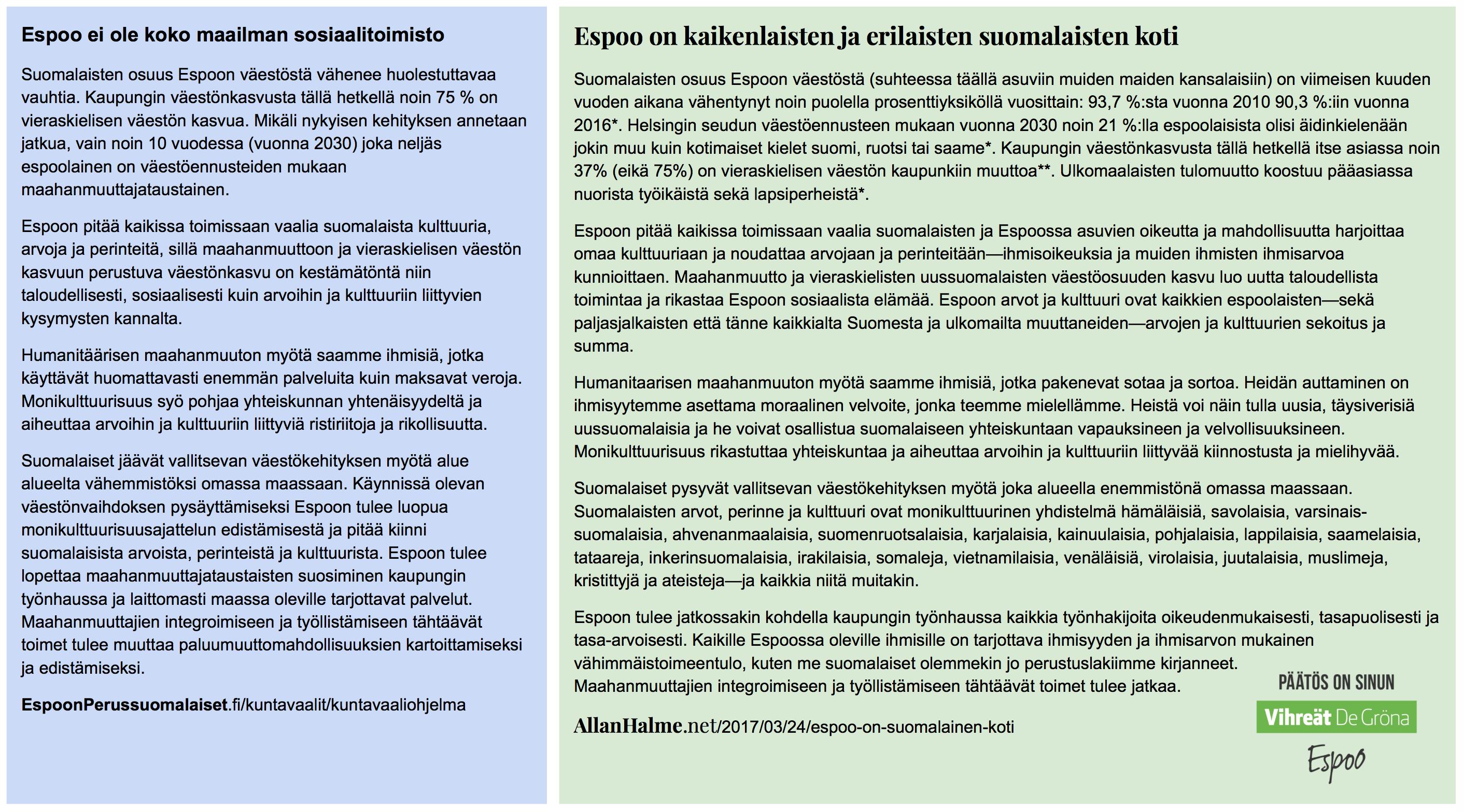 Espoo on kaikenlaisten ja erilaisten suomalaisten koti